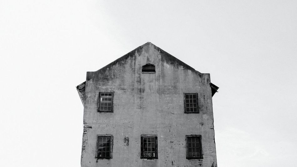 The utility house on Alcatraz Island. The Architect - 2016 EyeEm Awards Found On The Roll San Francisco Alcatraz Island The Rock Blackandwhite B&w Arcitecture Old Buildings Decay Abandoned Places Grimey Cali California