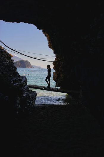 Chasing the perfect moment Taking Photos Relaxing Boats⛵️ Summer 2016 Summer Summetime Rocky Beach Travel Budva Montenegro Riviera Europe Scenics Romantic Mogren Beach Cave Cave Entrance