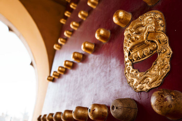 Tradition Ancient China Close-up Culture Door Focus On Foreground Gold Gold Colored History Indoors  No People