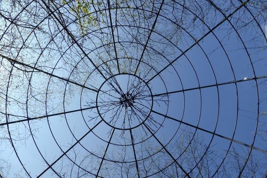 Abstract Circle Clear Sky Design Framework Geometry Low Angle View No People Outdoors Pattern, Texture, Shape And Form Structure Symmetry