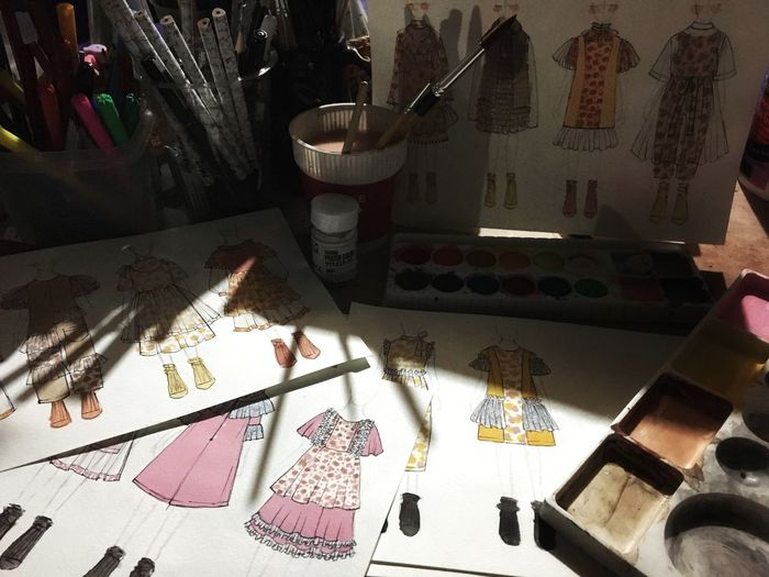 🌼🌼🌼 Art Design Autumnwinter Childrenclothes Painting Time to wait for somesun...🌞 By Zarazaa For My Sun...