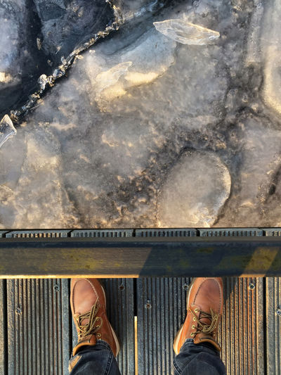 cold temperature Cold Weather Freezing Freezing Cold Ice Potsdam Shoe Standing Cold Cold Day Cold Days Cold Temperature Cold Winter ❄⛄ Ice Blocks Ice-cold Landing Stage Sacrow Shoes
