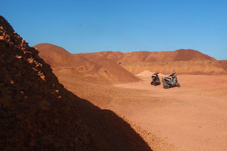Motorbikes at the desert