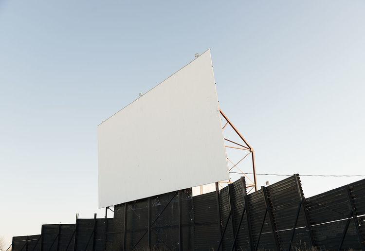 Copy Space Film MOVIE Blank Blank Screen Blue Drive In Theatre Driveinmovie Empty Sky Theatre Theatre Screen White