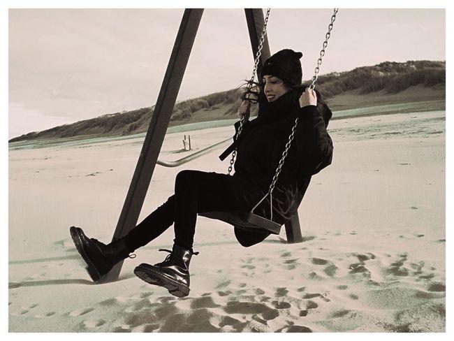 Lina Lolita Swinging Beachphotography Wintertime