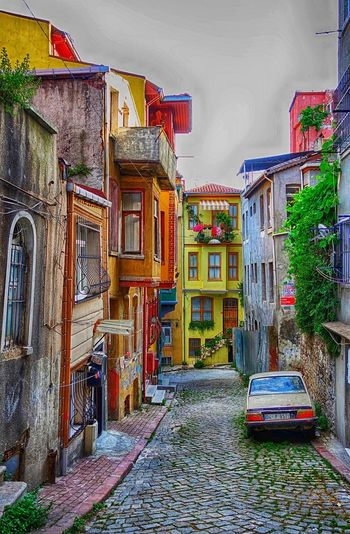 Istanbul Street Color Colorful Walll City Multi Colored Architecture Building Exterior Built Structure