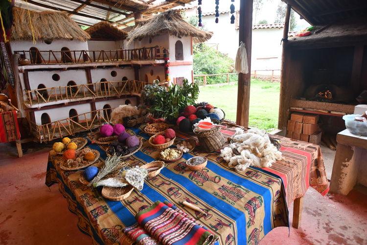 Various vegetables for sale in market