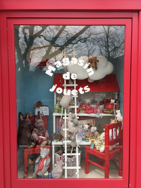 French shop Human Representation No People Built Structure Architecture Indoors  Red Day Close-up Dolls Shop Cute Red Frame Franch French Style Gift Shop Doll Shop