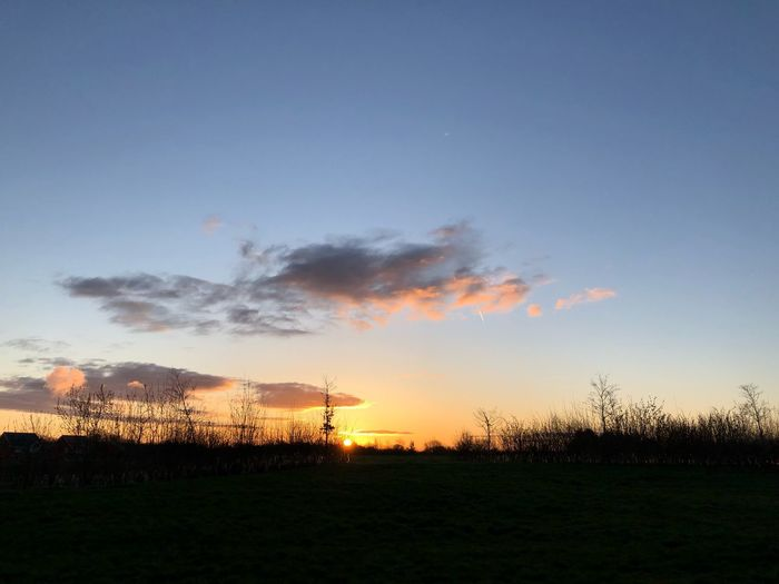 Morning #MobileSky #sunrise #sun #sky #iphonex #shotoniphone #clouds IPhoneX ShotOnIphone Sky Sun Sunrise MobileSky Sky Sunset Cloud - Sky Tranquility Field Nature Tranquil Scene