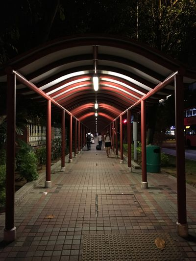 Absence Architectural Column Architecture Built Structure City Column Diminishing Perspective Empty Illuminated Long No People Outdoors The Way Forward Vanishing Point Walkway Showcase July