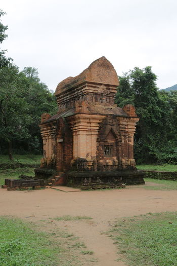 View of temple against sky