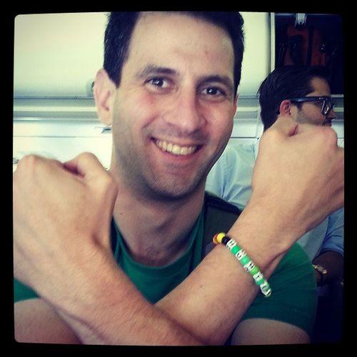 Nice, @hunterwalk is proud of his Yxyy bracelet made in flight. Craftyboy