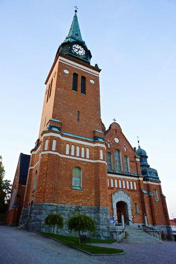Kyrka Church Örnsköldsvik Sweden övik Building Churchtower