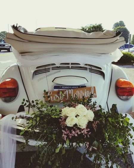 Just Married! EyeEm Selects Bug VW Beetle VW Wedding Wedding Photography Tree Close-up Information Sign Blooming Signboard Information Symbol Growing