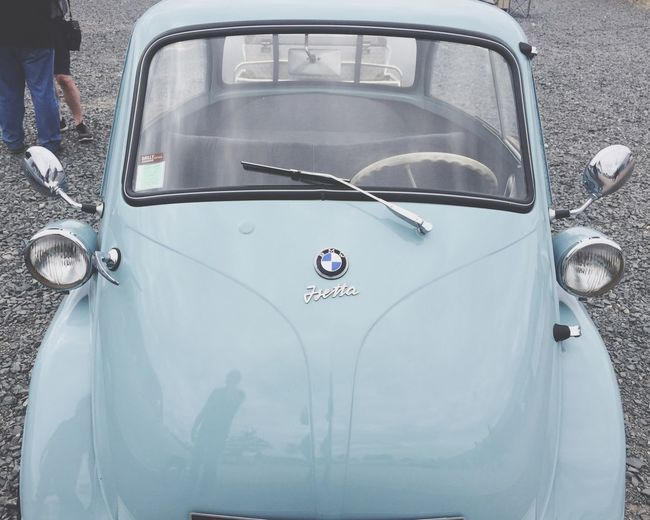 BMW 50', isetta 🌼 Day No People Outdoors Mode Of Transport Transportation Summer Landscape History Legend Car Bmw Blue IPhoneography Holiday Walk Taking Photos Way Of Life 👍🏻 Weekend