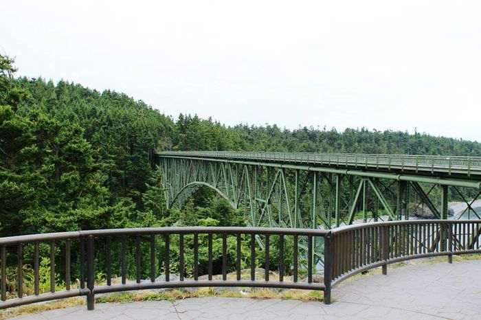 Roughly 15,000 people cross this bridge everyday here is a picture with not one soul on it Deception Pass, Washington Bridge - Man Made Structure Connection Tree Built Structure Architecture Outdoors Day No People Sky Deception Pass