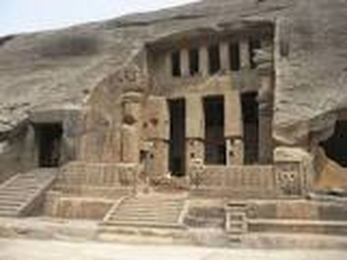 this Buddist monuments basal trock cut structure built in 1 st centurry. it si called KANHERI CAVES. Architecture