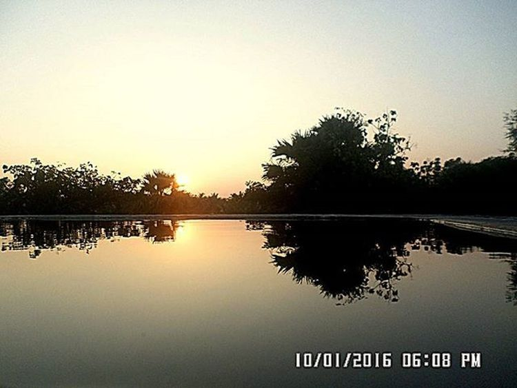 My younger bro's snap!!!!😍 Bro Sun Sunset Nature Throwback Reflection Water Reflections Palakkad Kerala Instagram Igers