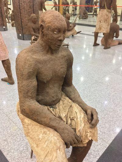 Dakar EyeEm Selects Art And Craft Sculpture Creativity Representation Human Representation Statue Craft No People High Angle View Carving - Craft Product