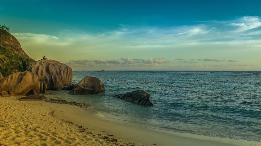 Anse Source d'Agent-La Digue-Seychelles Ansesourcedargent Beautiful Beautiful Nature BeautifulIsland Dreamisland Eye4photography  EyeEm Best Shots EyeEm Gallery EyeEm Nature Lover EyeEmBestPics Idyllic Nature Rocks And Water Sey Seychellen Stunning Stunning Collection Sunset_collection