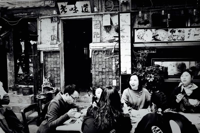 Shanghai Ricoh GRlll People Shopping Business Indoors  Built Structure Lifestyles Architecture Day Real People Group Of People Retail  Men Window Communication Store Leisure Activity Rear View