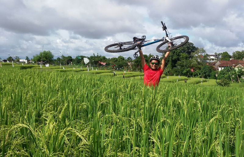 Happy weekend guys 😎 Cycling Lover Ricefield CyclingUnites