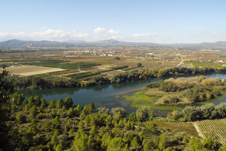 Aerial View Composition Countryside Distant Ebro River, Exploring Grass Human Settlement Lake Lakeshore Lush Foliage Outdoors Perspective Reflection River Riverbank Scenics Standing Water Top Perspective Tranquil Scene Tranquility Tree Vacation Voyage Water