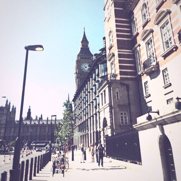 London Bigben City England🇬🇧 British Summer 2015  Tourism Traveling CityTour Buildings Cityicon Monuments