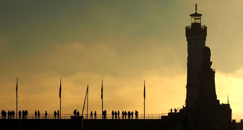 From Lindau with love Bodensee Cloud - Sky Germany Group Of People Hafen Lindau Löwendenkmal Magicoflight Silhouette Sky Sunset Tourism Travel Destinations 43 Golden Moments #urbanana: The Urban Playground
