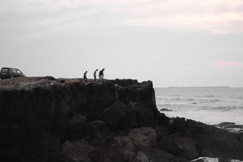 Rocks Sea Blackandwhite Mohammedia Casablanca Maroc Nikon D5200 Nikon