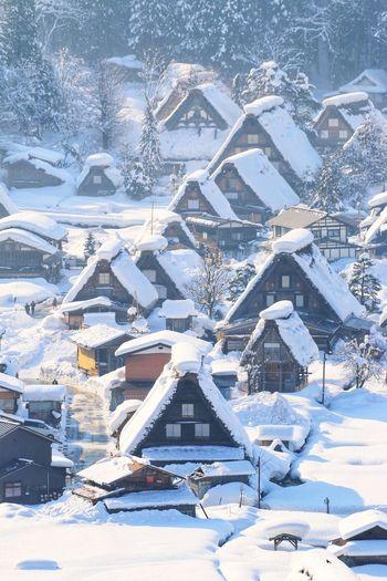 日本 日本旅行 Shirakawago Japan House Snow Cold Temperature Snowflake City Winter Sea Backgrounds Cityscape Aerial View Ice Snowfall Snowing Weather Condition Snowcapped Mountain Deep Snow Snowcapped Frost
