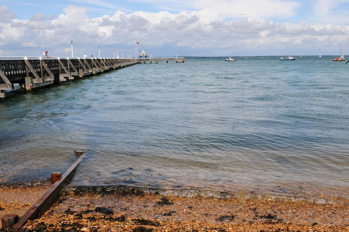 Trip to Isle of Wight, United Kingdom from South city Southampton. Beach Bridge - Man Made Structure Cloud - Sky Day Harbor Horizon Over Water Nature Nautical Vessel No People Outdoors Sand Sea Sky Water