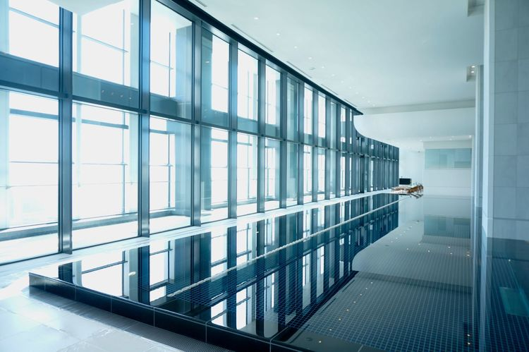 2014 Andaz ANdAZ Tokyo Gym Indoor Swimming Pool Indoors  Luxury Pool Sport Sun Swiming Pool Water アンダーズ プール 室内プール