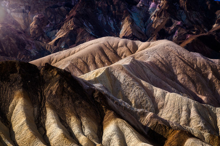 Full frame shot of rocks and mountains