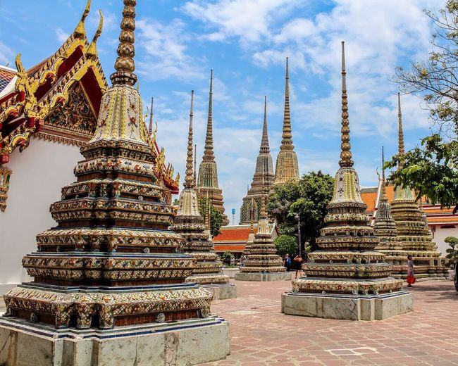 Pagodas in the Grand Palace in Bangkok Thailand. Travel Destinations Architecture Religion No People Pagoda Travel Photography Bangkok