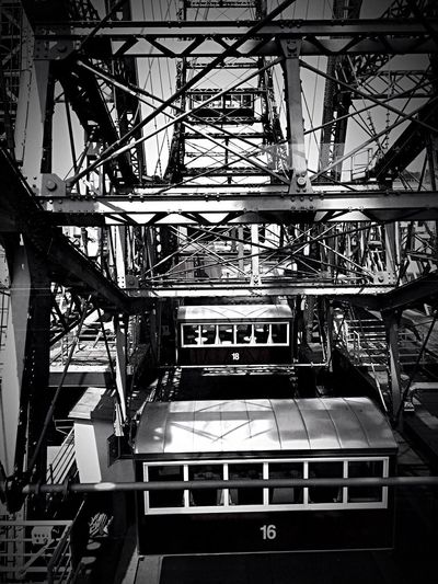 Bnw_amusement_parks Bnw_friday_eyeemchallenge Prater Vienna Built Structure Architecture No People Low Angle View Day Outdoors Sky