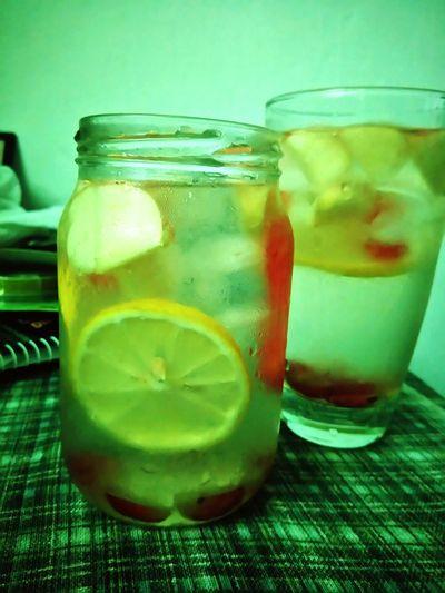 Beatin' summer heat Fruitdrink Fruitinfusion Lemon Grapes Watermelon Apple Vitamin C Naturaldrink Healthy Lifestyle Experia Random Perspective Beginnerphotographer EyeEm Gallery Getty X EyeEm