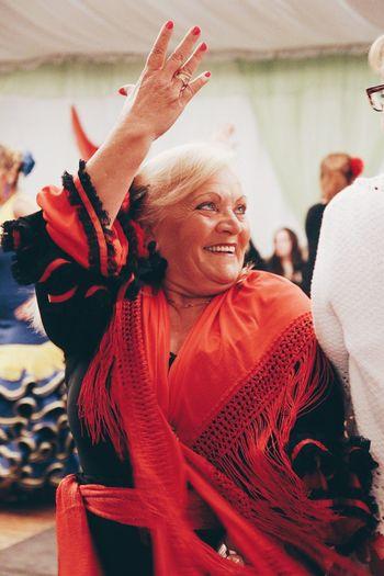 Senior Adult Senior Women Real People Smiling Leisure Activity Dancing Enjoyment Celebration Happiness Cheerful Fest Festival Feria De Abril