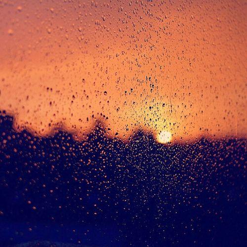 Rain Drops Sun Sunset Dusk