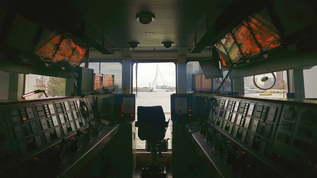 Taking Photos Check This Out Erasmusbrug Maas Wereldhavendagen River View Controlpanel Control Room Empty Chair View