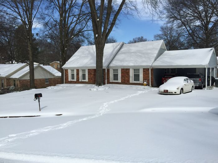 My Home Snow Car Snowday Memphis Tennessee Cold Winter Beautiful