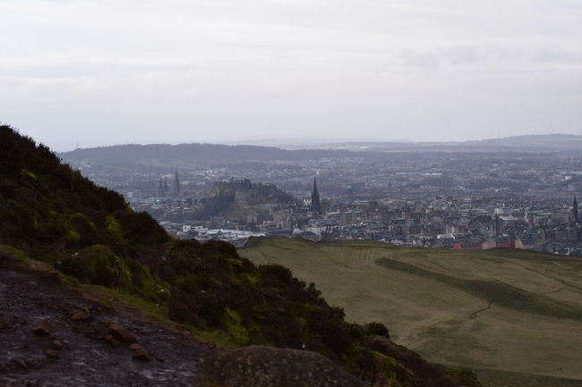 Arthurs Seat Blue Clear Sky Cliff Copy Space Edinburgh Edinburgh Castle Exploring Geology Hill Human Settlement Mountain Mountain Range Outdoors Panorama Physical Geography Rock Rock Formation Scenics Sea Skyline Tranquil Scene Trip Water