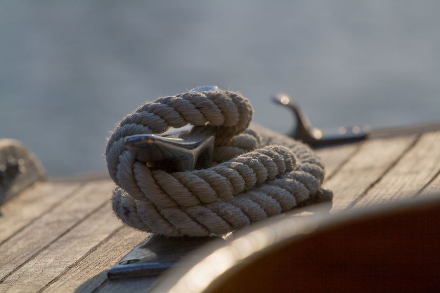 Cleat Close-up Day Nature No People Outdoors Pier Rope Sailing Selective Focus Strength Wood - Material Go Higher