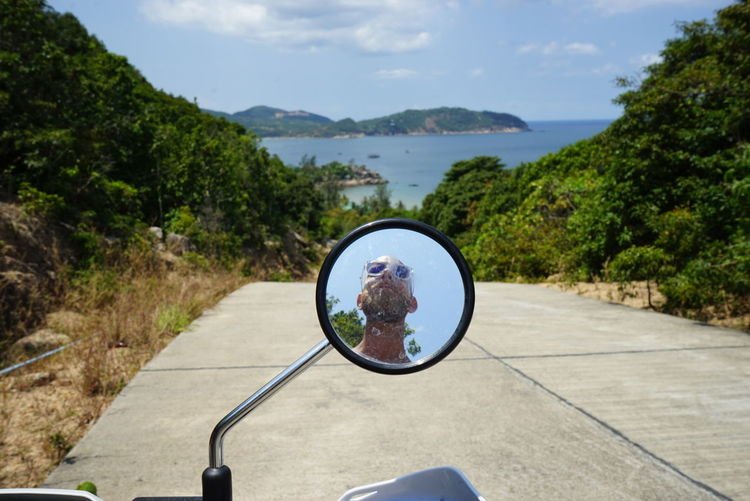 Island Life EyeEm Koh Phangan The Beach  Scooter Mirror Summer Reflection Done That.
