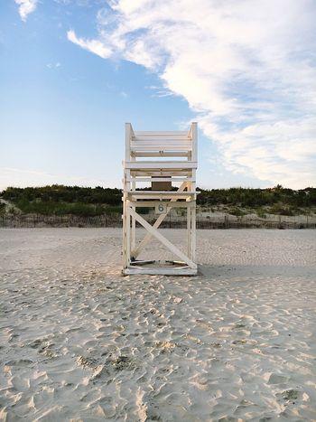 Empty Stand Sand Lifeguard Hut Lifeguard  Beach No People Built Structure Chair Outdoors