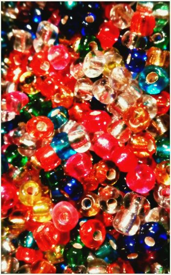 Macro Beauty - Glass beads. Colour Of Life Close-up Artofvisuals Abstract Large Group Of Objects Jewelryaddiction Vibrance Glitter & Sparkle Light And Shadow Beads Galore Bead Photography