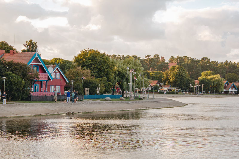 Lietuva Lithuania Architecture Beauty In Nature Building Building Exterior Built Structure Cloud - Sky Cottage Day Environment Golden Hour House Nature Nida Outdoors Plant Reflection River Sky Sunset Sunsets Tree Water Waterfront