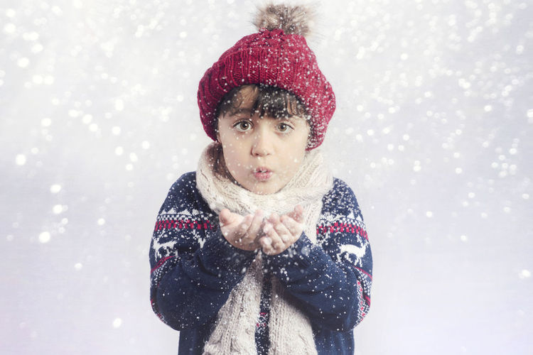 Christmas December Frozen Fun Happiness Happy Holidays Santa Claus Snowing ❄ Winter Cap Child Childhood Cold Cold Temperature Gloves Portrait Scarf Snow Snowflake Snowing Warm Clothing Winter