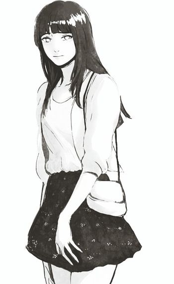 She's Beautiful Hinata Art my Favorite in Naruto Loveit