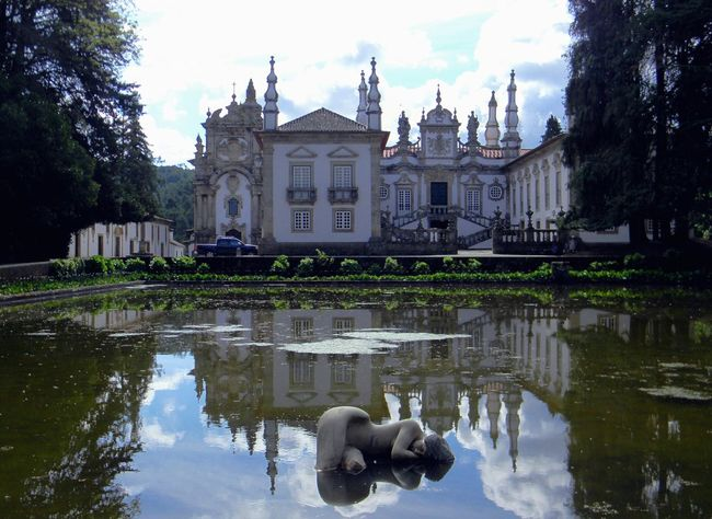 Architecture Building Exterior Casa De Mateus Day Nature No People Outdoors Palace Palace Garden Pond Reflection Sky Statue Water